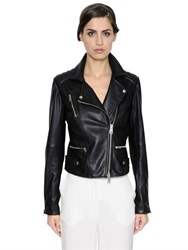 Simonetta Ravizza Nappa Leather Biker Jacket