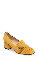 Gucci Women's Marmont Pump Yellow Suede