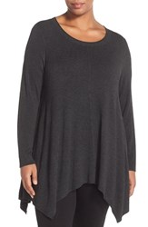Eileen Fisher Plus Size Women's 709 Lightweight Crewneck Sweater Charcoal