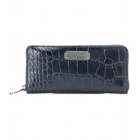 Marc By Marc Jacobs Slim Zip Around Embossed Leather Wallet