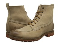 Frye Phillip Lug Workboot Cement Textured Full Grain Men's Work Lace Up Boots Tan
