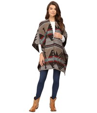 Stetson Navajo Serape Wrap Cardigan Brown Women's Sweater