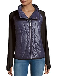 Andrew Marc New York Hi Tech Mixed Jacket Fuchsia