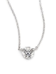 Kwiat Diamond And Platinum Large Solitaire Pendant Necklace