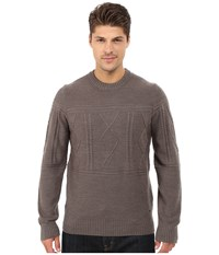 Smartwool Cheyenne Creek Cable Sweater Taupe Heather Men's Long Sleeve Pullover