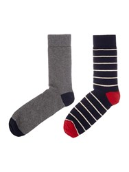 Howick Striped Sock Navy