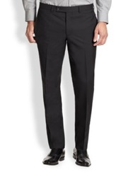 Saks Fifth Avenue Modern Fit Wool Trousers Navy Grey Black