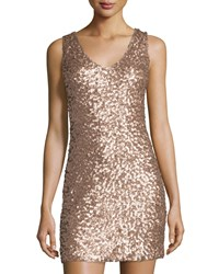 Romeo And Juliet Couture Sleeveless Sequin Stretch Dress Rose Gold