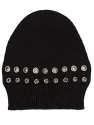Sonia Rykiel Grommet Detailed Beanie Black