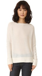 Theperfext Long Sleeve Pullover Chalk