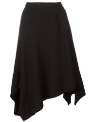 Wunderkind Asymmetric Ruffle Hem Skirt Black