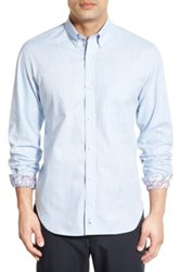 Tailorbyrd 'Lilac' Regular Fit Long Sleeve Sport Shirt Big And Tall Blue