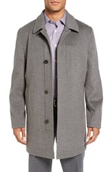 Hart Schaffner Marx Men's 'Douglas' Classic Fit Wool And Cashmere Overcoat Smoke