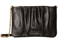 Marc Jacobs Gathered Pouch With Chain Black Handbags