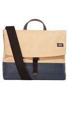 Jack Spade Dipped Canvas Folded Messenger Bag Khaki Navy