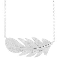 Earthy Chic Boutique Light As A Feather Necklace White