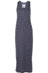 Zoe Karssen Leopard Print Cotton And Modal Blend Jersey Maxi Dress