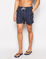 Another Influence Floral Swim Shorts Blue