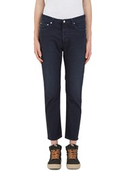 Acne Studios Town Twilight Cropped Leg Jeans Navy