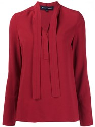 Proenza Schouler V Neck Blouse Red