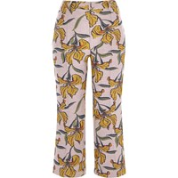 River Island Womens Purple Floral Jacquard Crop Flare Trousers