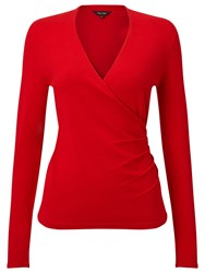 Phase Eight Wilma Wrap Knit Top Red