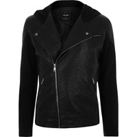Only And Sons River Island Mens Black Textured Jacket