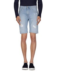Bikkembergs Denim Denim Bermudas Men Blue