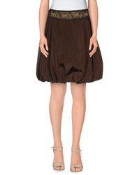 Blumarine Skirts Knee Length Skirts Women Dark Brown