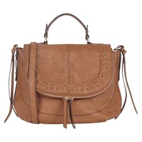 Oasis Pippa Plait Satchel Bag Tan