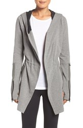 Blanc Noir Women's Traveler Wrap Jacket Heather Grey Black