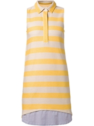 Band Of Outsiders Striped Shirt Dress Yellow And Orange