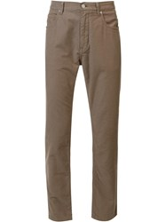 Helmut Lang Classic Skinny Jeans Brown