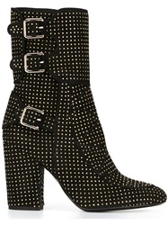Laurence Dacade Studded Texture Boots Black