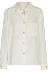 Simon Miller Bara Cotton Gauze Shirt Ivory