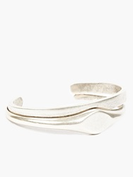 Maison Martin Margiela 10 Silver Engraved Double Cuff
