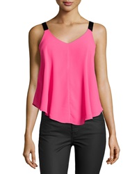 Romeo And Juliet Couture Grosgrain Strap Flowy Tank Fuchsia
