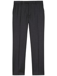 Jaeger Wool Regular Fit Suit Trousers Charcoal