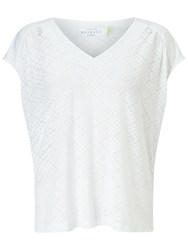 Collection Weekend By John Lewis Burnout Jersey T Shirt White