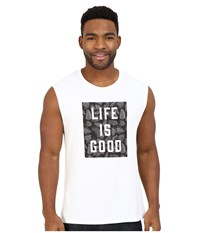 Life Is Good Muscle Tee Cloud White Men's Sleeveless