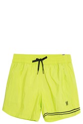 Danward Striped Swim Shorts Yellow