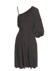 Loup Charmant Algarve One Shoulder Cotton Dress Charcoal