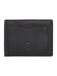 Paul Smith London Multistripe Interior Leather Coin Pocket Wallet Black