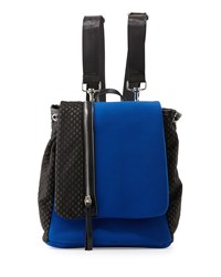 Gx By Gwen Stefani Helga Mesh Panel Neoprene Backpack Cobalt Black