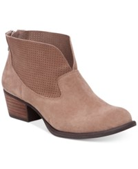 Jessica Simpson Dacia Perforated Booties Women's Shoes Totally Taupe