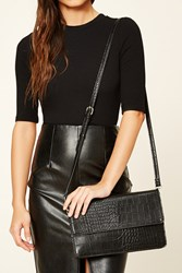 Forever 21 Faux Leather Crossbody Black