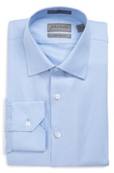 John W. Nordstrom Traditional Fit Non Iron Solid Dress Shirt Blue