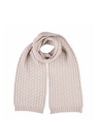 Johnstons Of Elgin Cashmere Quilted Texture Scarf Neutral