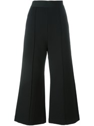 Self Portrait Flared Culottes Black