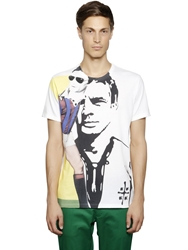 Antonio Marras Gigi Riva Printed Cotton T Shirt White
